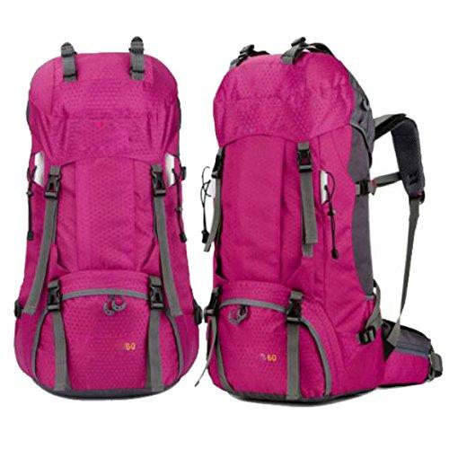 Outdoor Sport Wandern Camping Rucksack Pack Erkunden Trekking Klettern Rucksack Tasche,Green RoseRed