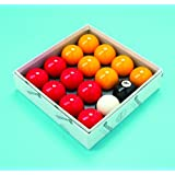 "Red and Yellow 2"" Aramith Pool Ball Set (1 7/8 Inch Cue Ball)"