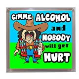 Thoughtroad Gimme Alcohol Plastic Paper Fridge Magnet
