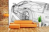 Fototapete Sports Car - weitere Größen und Materialien wählbar - DEUTSCHE PROFI QUALITÄT von Trendwände