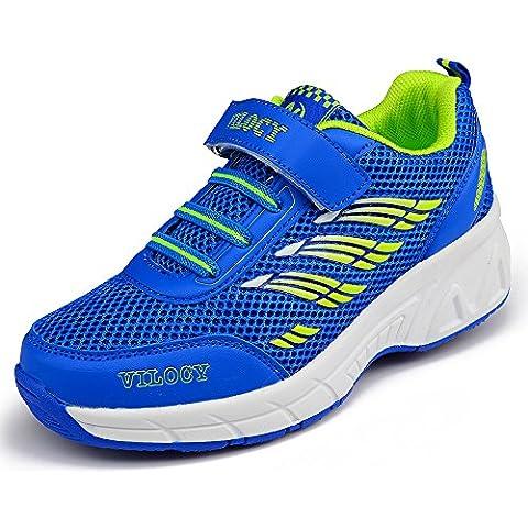 Vilocy Unisex Bambini Pattini Ragazza Ragazzo Scarpe da ginnastica Ruote Scarpe Sneakers