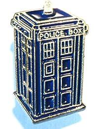 Doctor Who Tardis Time Machine Police Call Box Metal Enamel Pin Badge