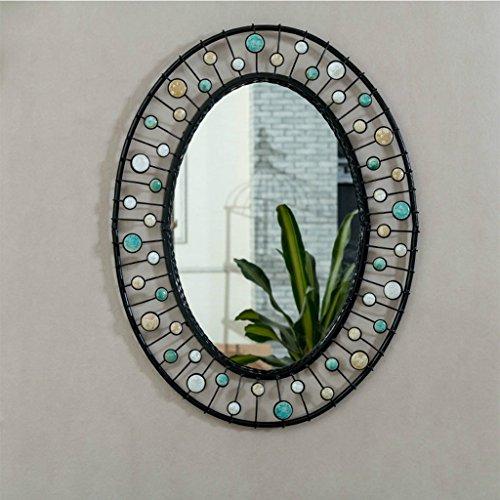 Espejo de pared de baño Montado en la pared Espejo de pared ovalado Vertical Mar de vidrio...