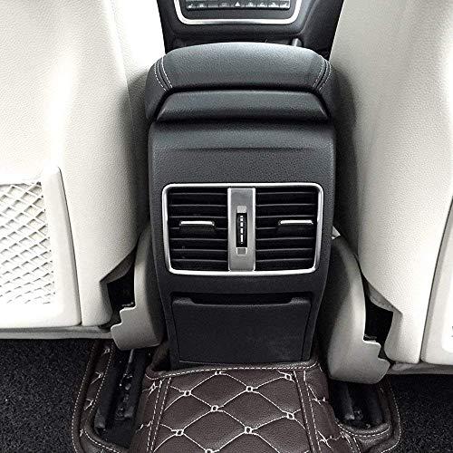 Carbon ABS Chrom Hinten Klimaanlage Vent Outlet Dekoration Trim Cover Rahmen Zubehör für CLA 200220260A B Klasse