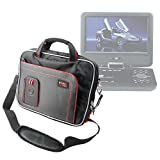 DURAGADGET Black And Red Padded Carry Bag/Case with Removable Shoulder Strap Compatible with the BW 12.1 Inch Portable DVD Player & BW 14 Inch Portable DVD Player - by