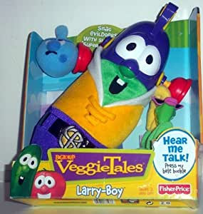 Veggietales Larry Boy Talking Plush Toy with Shooting Super Suction Ears