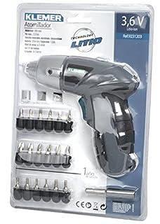 Klemer 9231203 Atornillador 3,6v Litio 1,3 Ah, 3.6 W, 3.6 V, Azul (B00KZP6WT8) | Amazon Products