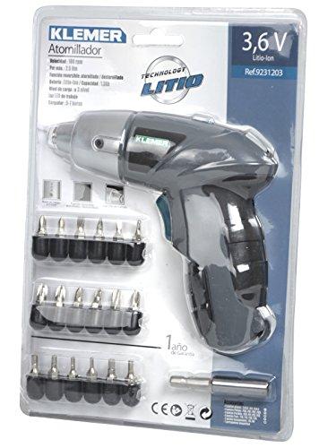 Klemer-9231203-Atornillador-batera-de-litio-13-Ah-36-W-36-V