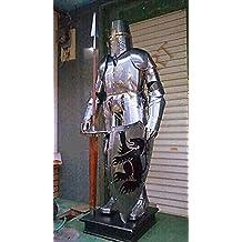 Armadura medieval para caballero cruzado Full Suit de Armor de disfraz