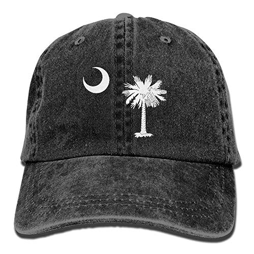 South Carolina State Flag Washed Retro Adjustable Jeans Cap Gym Caps ForAdult