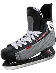 sulov Hombre Z100Hielo Hockey sobre Hielo, invierno, color negro, tamaño 43