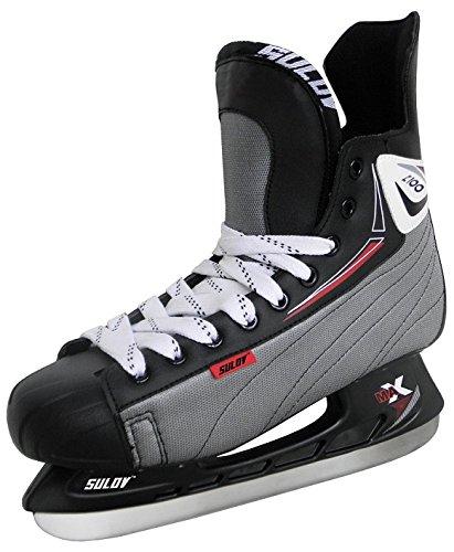 SULOV Herren Schlittschuhe Eishockey, Schwarz, 46