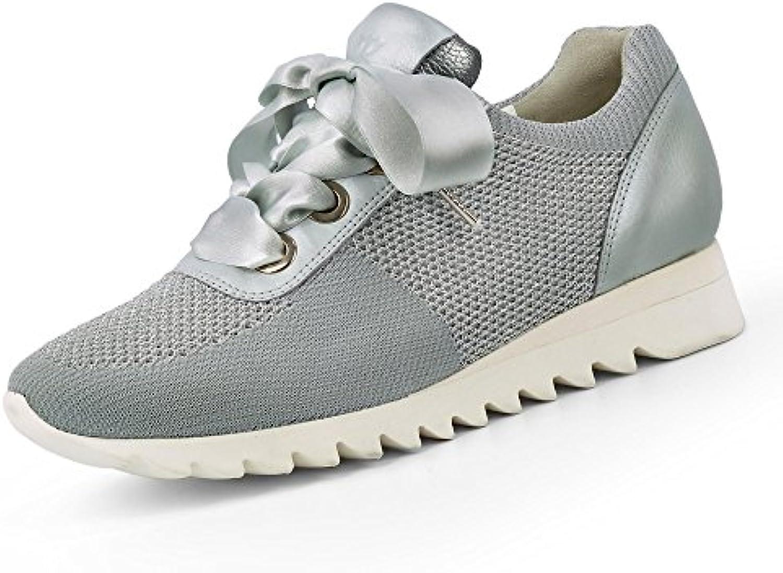 Paul Green 4627-002 Damen Sportive Sneaker aus gestricktem Textil Lederfutter