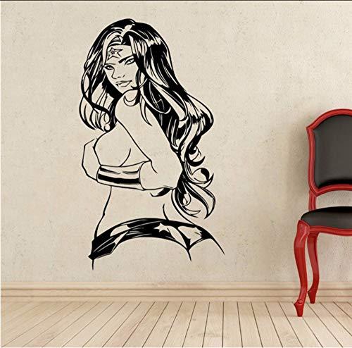 DIY Wandkunst Dekoration Wonder Woman Aufkleber Vinyl Comics Wohnzimmer Aufkleber 50X80 cm ()