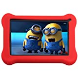 Simbans (TM) FunDoTab Tablet para Ninos PC - Quad Core, Google Android 4.4 KitKat, Pantalla HD 7 pulgadas, 8GB + tema libre