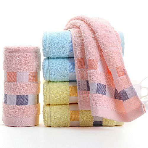 TDPYT 6 Stücke/Baumwolle Gesicht Towel Saugfähigen Extra Weiche Jacquard Gesicht Handtücher Für Erwachsene Kinder Sport Gym Spa