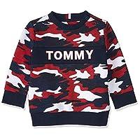 Tommy Hilfiger Boy's AOP Sweatshirt, Blue, 4 Years