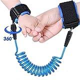 TRDCZ Kinder-Antiverlust-Handgelenk 1.5M Bügel-Seil-Kleinkind-Leine-Sicherheits-Geschirr-Im Freiengehender Handgurt-Band Anti-Verlorenes Armband,Blue