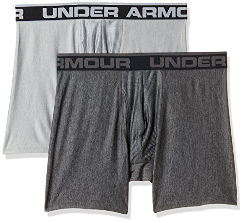 Under Armour Herren O Series 6'' Boxerjock 2er Pack,Mehrfarbig (Carbon Heather), SM