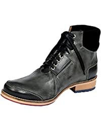Style Centrum Men's Black Leather Boots - B00L48ONEG