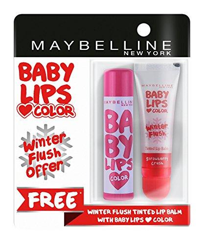 Maybelline New York Baby Lips, Winter Flush, 4.4g and Baby Lips, Candy Rush Gummy Grape, 4g