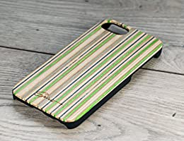 Recycled Skateboard iphone 7 case - Wooden Case - Skateboard Case - Brown - Green - Skate phone case - Gift