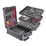 Royalty Kraft 256 pezzi Utensili di attrezzi e pratica valigetta con manico KT-1003