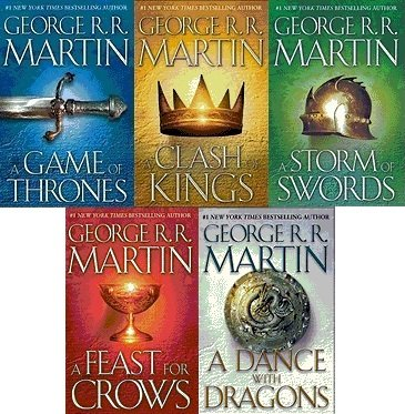 A Song of Ice and Fire Complete Hardback Set Volumes 1-5. Includes A Game of Thrones, A Clash of Kings, A Storm of Swords, A Feast for Crows and A Dance with Dragons