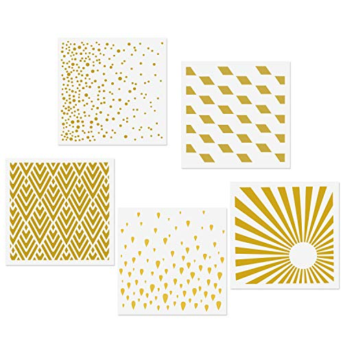 CODOHI Schablonen wiederverwendbare Mylar-Schablonen - DIY Basteln Schablonen zum Malen Stencils (Geometrischer Stil)