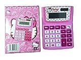 Rosa Hello Kitty Mädchen Schule Taschenrechner Kinder Hausaufgaben 12Ziffern Wissenschaftlicher Taschenrechner Disney Fun Geschenk, Büro stationären Taschenrechner