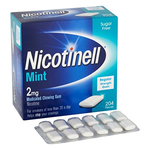 Nicotinell Mint 2 mg Nicotine Medicated Chewing Gum, 204 Pieces
