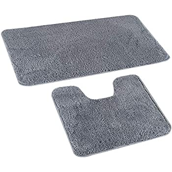 Lochas Bath Mat Rug Set Ultra Soft And Water Absorbent
