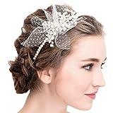 Tulle Ivoire Vintage strass strass perle serre-tête mariage Prom accessoires pour cheveux