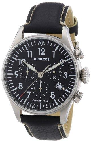 Junkers Men's Quartz Watch Cockpit JU52 61802 with Leather Strap