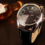 336 Luxus Herren Große Zifferblatt Wasserdichte Uhr Freizeit Business Quarzuhr Römische Ziffer