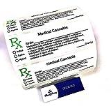 MontCherry Brand Exclusive Tips Pack RX Medical Labels Squeeze tops Pop Tops Vials Combo sold Trendz (25 Labels)