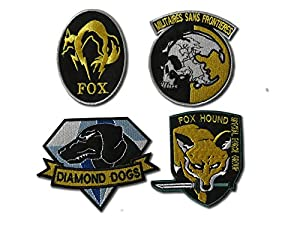 Metal Gear Solid Cosplay Airsoft Iron On Patch Set de badges Patch insigne