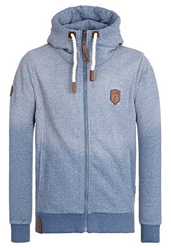 Naketano Male Zipped Jacket Raketa in Hose III Pablo Powder Blue Melange, XL