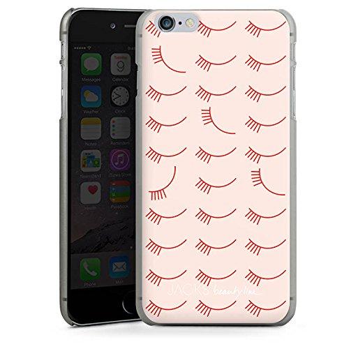 Apple iPhone X Silikon Hülle Case Schutzhülle Augen Wimpern Eyes Hard Case anthrazit-klar