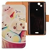 Lankashi Etui Coque PU Flip Cuir Housse Case Cover Skin Pour Sony Ericsson Xperia Arc /Arc S Lovely Design
