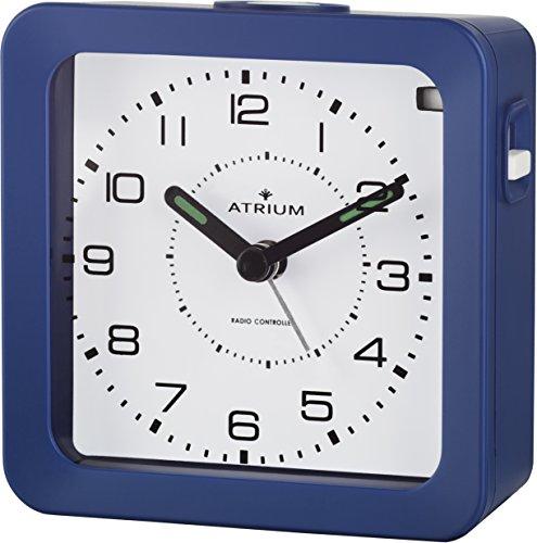 ATRIUM Funkwecker analog blau ohne Ticken, mit Licht und Snooze A650-5