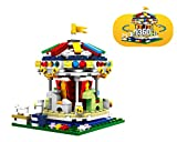 Modbrix City Piastrelle Kirmes per Bambini, giostra, 343 mattoncini, 13 x 10 x 10 cm