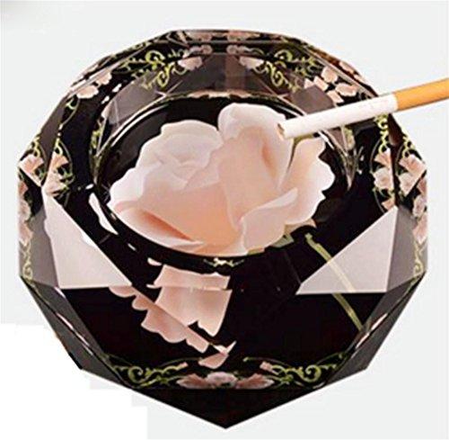 XINQI Aschenbecher kreative Persönlichkeit Trend Mehrzweck-Glas großes Wohnzimmer, Rose