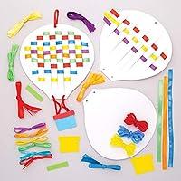 Baker Ross Ltd AW636 Hot Air Balloon Weaving Kits, Assorted