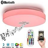 Autai Deckenlampe mit integriertem Bluetooth Lautsprecher und RGB Farbwechsel, 24 Watt, Dimmbar, steuerbar über Fernbedienung, ideal für Wohnzimmer, Schlafzimmer oder Balkon