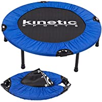 Kinetic Sports Indoor Fitness Tramploline Home Trampoline Mini Minitrampolin Ø 91 cm pliable