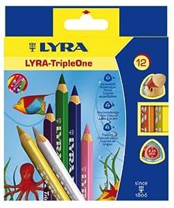 Lyra Triple One L3641121 Etui de 12 crayons Couleurs Assorties