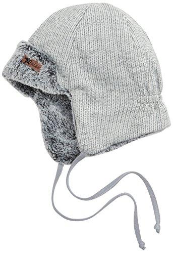 Für Baby Jungen Mützen (Sterntaler Baby - Jungen Mütze Fliegermütze 4611752, Gr. 49, Grau (rauchgrau)