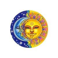 Mandala Arts Window Sticker Reflections Sun & Moon by Mandala Arts