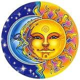 "Mandala Arte Ventana Adhesivo ""Reflections sol y Moon"